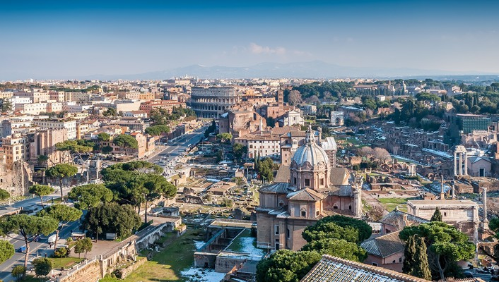 Beautiful view of rome wallpaper