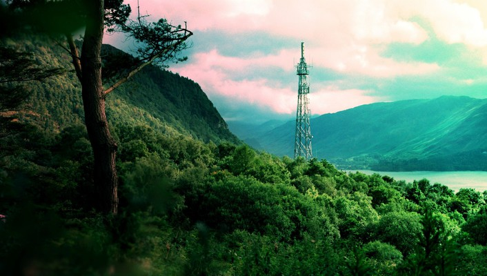 Bonobo forests jungle nature radio tower wallpaper