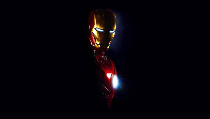 Black iron man dark 3 wallpaper