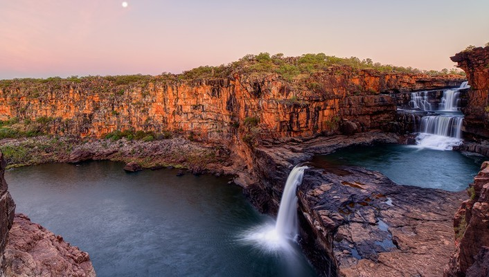 Australia cliff national park blue falls wallpaper