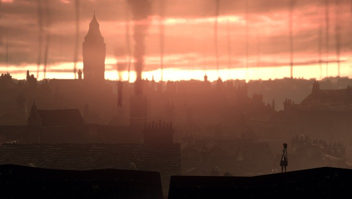 Alice madness returns london fog rooftops wallpaper