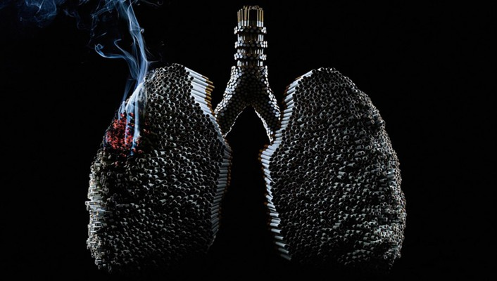 Smoking digital art artwork lungs cancer wallpaper