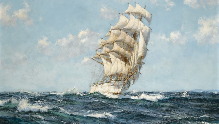 Montague dawson artwork sea ships wallpaper