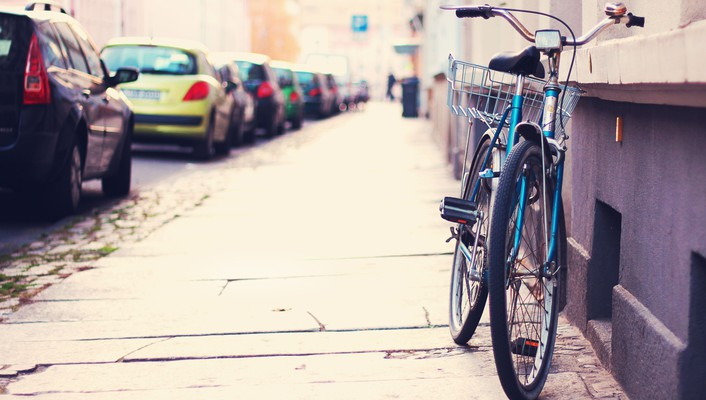 Bicycles parking shift streets wallpaper