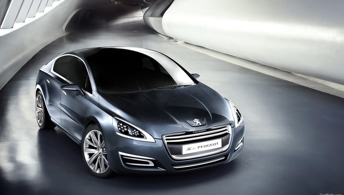 Peugeot cars concept art silver wallpaper