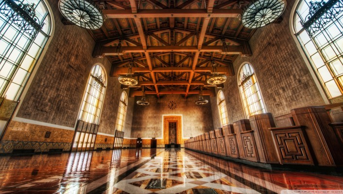 Lovely hall in union station wallpaper