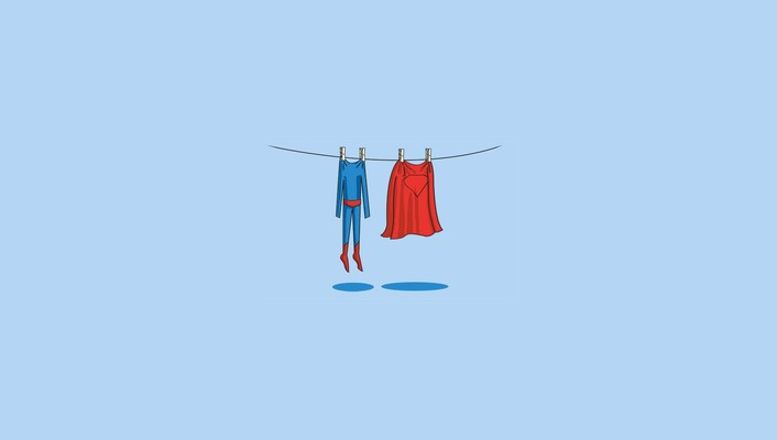 Superman abstract laundry minimalistic simple wallpaper