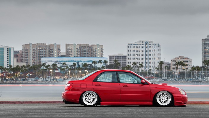 Cars tuning subaru impreza slammed wallpaper