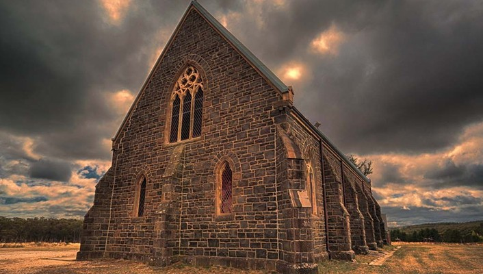 Clouds landscapes trees hills church hdr photography skies wallpaper
