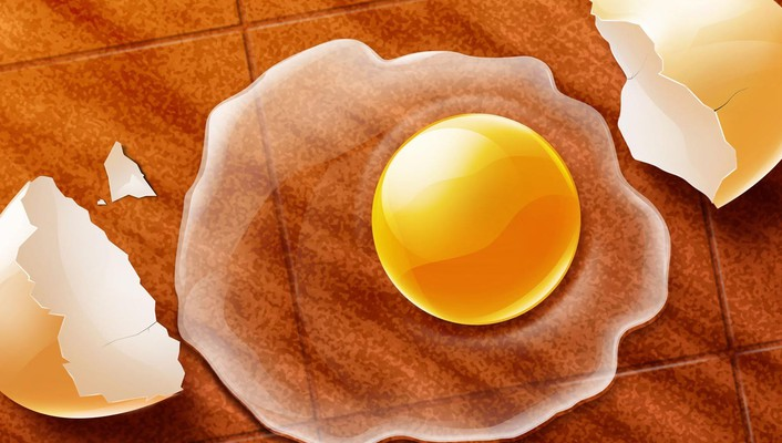 Eggs yellow 3d wallpaper