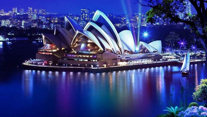 Landscapes sydney opera house wallpaper
