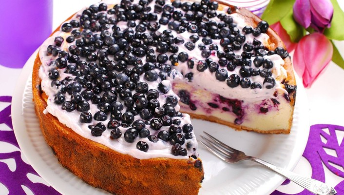 Blueberry cake wallpaper