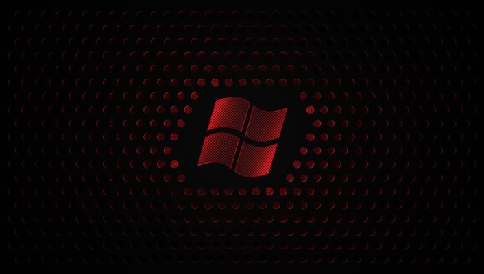 Red windows 7 microsoft logo 8 wallpaper