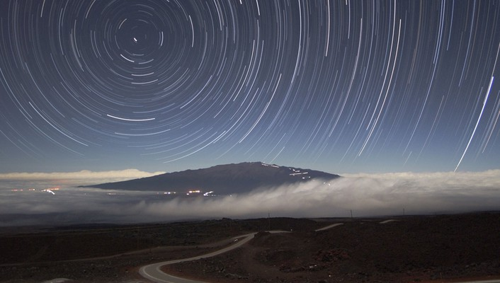 Landscapes long exposure star trails wallpaper