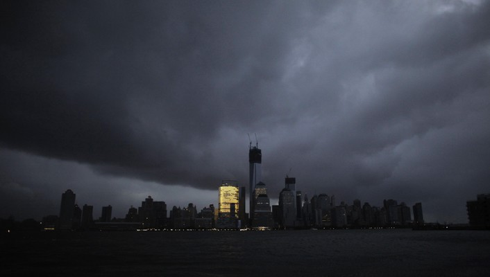 Buildings new york city rivers hurricane sandy wallpaper