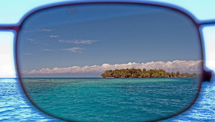 Glasses sea wallpaper