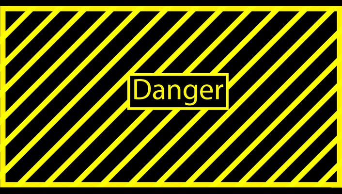 Black yellow danger simple dangerous wallpaper