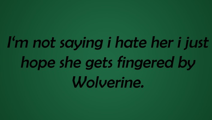 Text wolverine funny fingers wallpaper