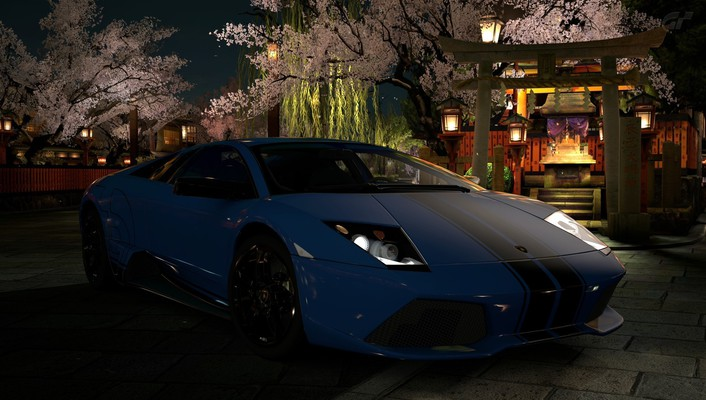 Lamborghini murcielago playstation 3 cars video games wallpaper