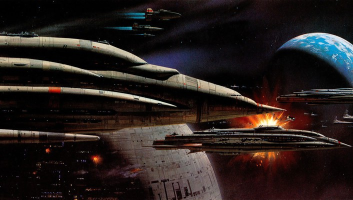 Fiction artwork a-wing ralph mcquarrie traditional art wallpaper