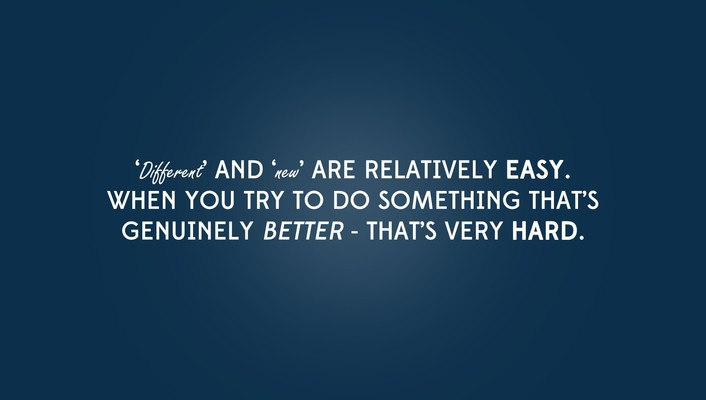 Blue minimalistic quotes better simply hard wallpaper