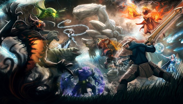 Dota 2 fantasy art video games wallpaper
