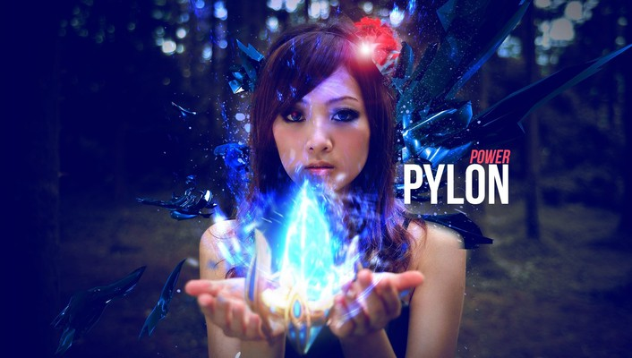 Kaijie game pylon photo manipulations asian girl wallpaper