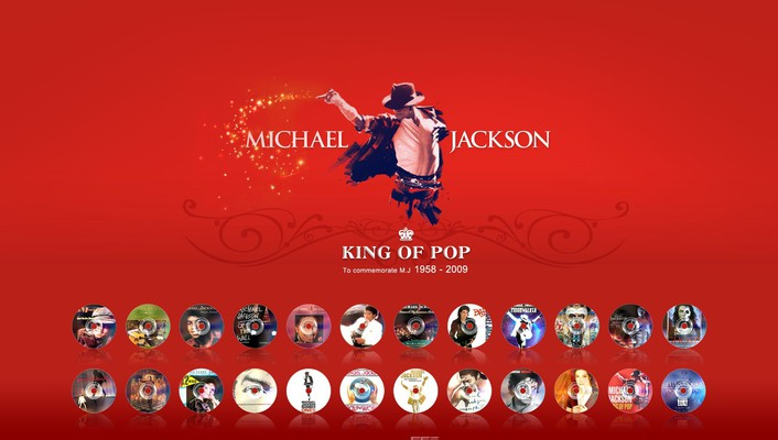 Michael jackson red background wallpaper