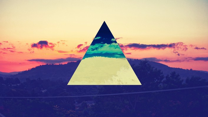 Artwork colors triangles wallpaper