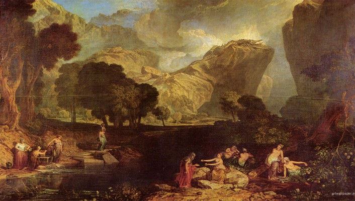 Turner the garden of hesperides artwork paintings wallpaper