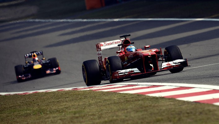 Sebastian vettel racing tracks chinese gran prix wallpaper