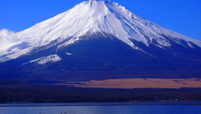 Mountains landscapes nature snow mount fuji wallpaper