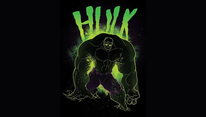 Hulk marvel comics black background fan art wallpaper