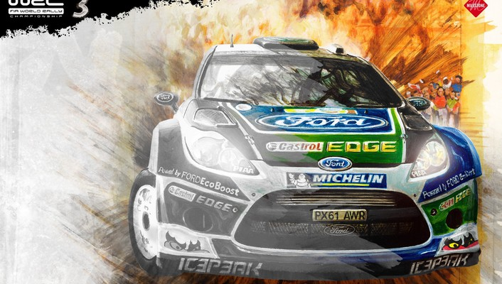 Vehicles racing wrc world championship fiesta car wallpaper