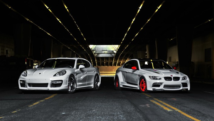 Bmw porsche cars wallpaper
