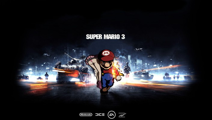 Video games battlefield super mario funny battles wallpaper
