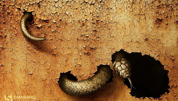 Earth snakes digital art reptiles july land cracked wallpaper