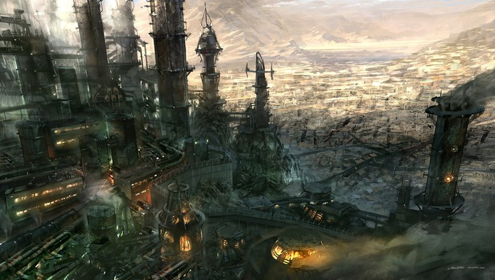 Fantasy art artwork landscape wallpaper