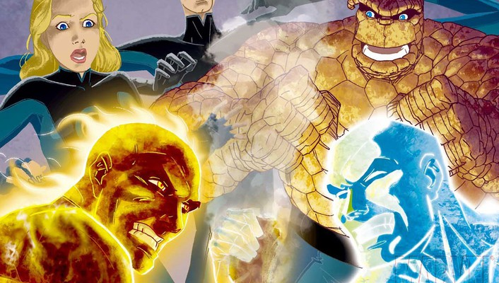 Fantastic four marvel comics iceman wallpaper