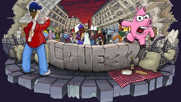 France pigs caricature french wars street ligue wallpaper