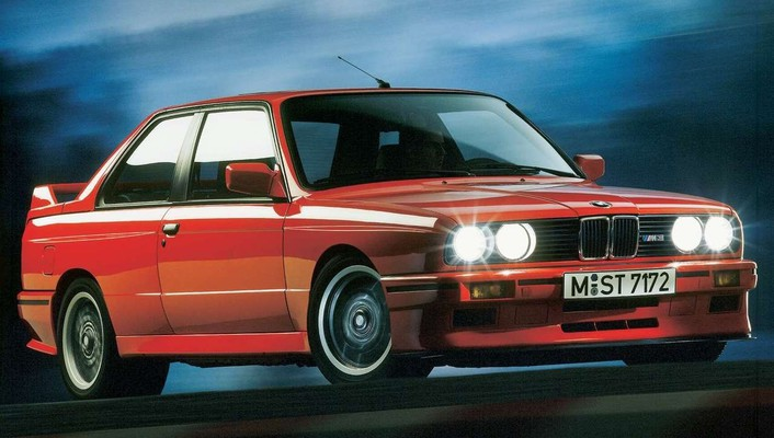 Red evolution bmw m3 1988 wallpaper