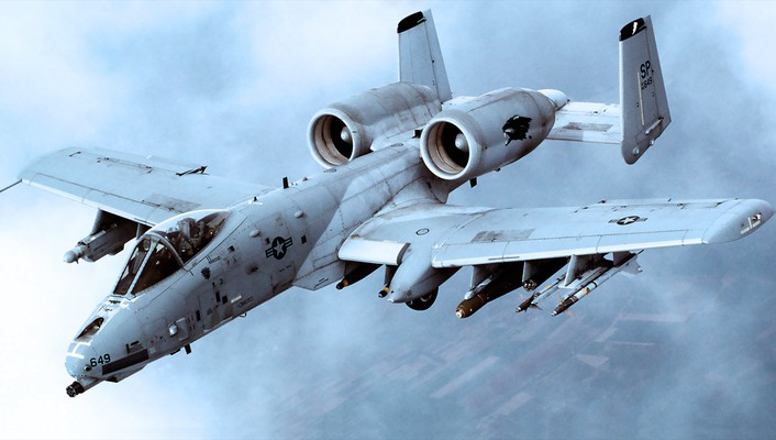 Bomber thunderbolt flight plain canoes skies a10 a-10 wallpaper