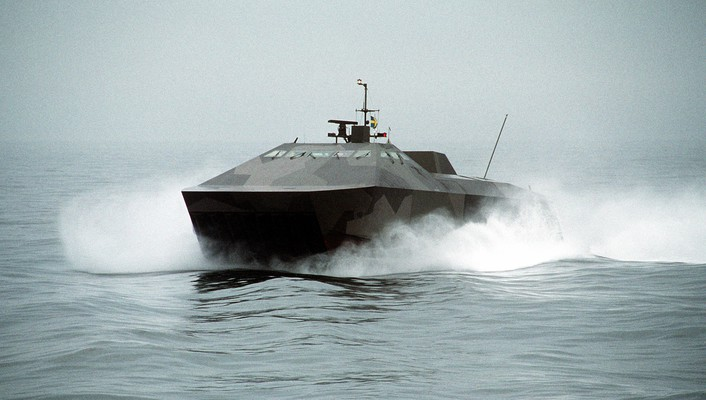 Hswms smyge stealth ship sweden swedish army hovercraft wallpaper