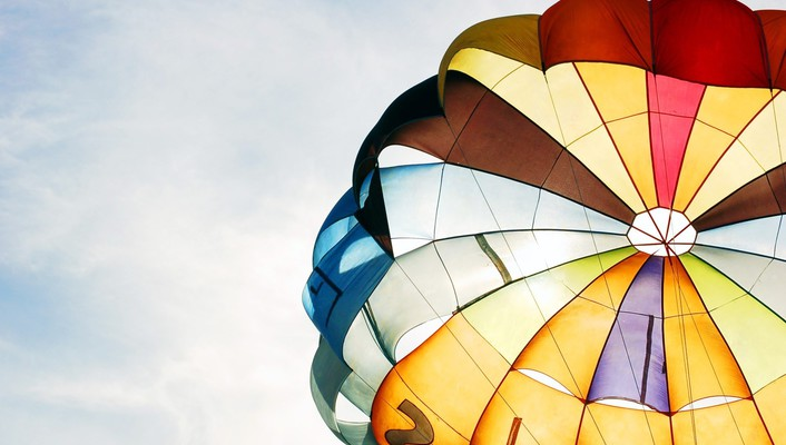 Colorful air balloon wallpaper