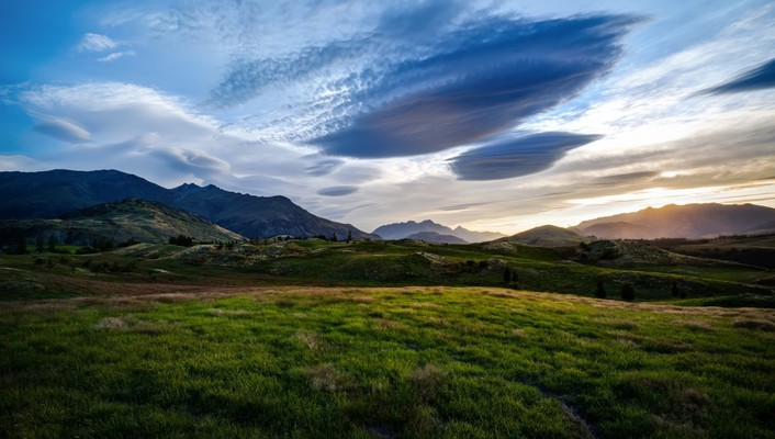 Landscapes nature fields valleys queenstown wallpaper