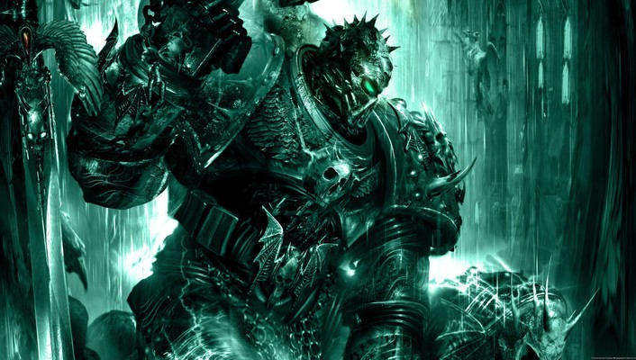 Artwork chaos space marine soul hunter talos wallpaper