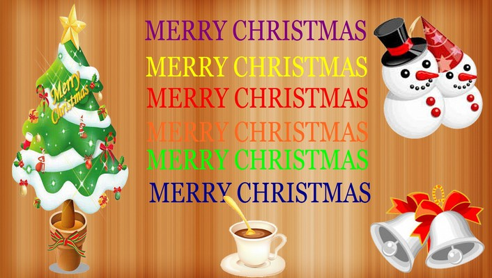 Merry christmas color full wallpaper