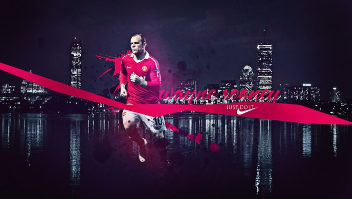 Skylines nike manchester united fc wayne rooney wallpaper