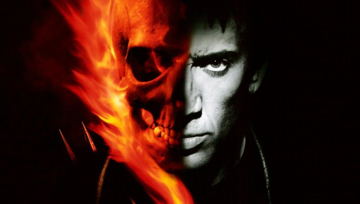 Ghost rider nicolas cage comics skulls superheroes wallpaper