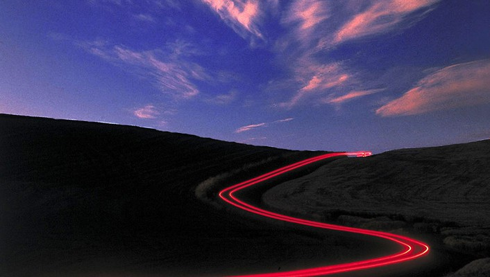 Lights wall roads trail skyscapes wallpaper